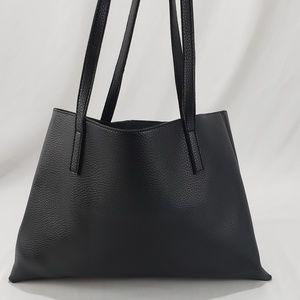 Vince Camuto Black/Grey Vegan Leather Tote Bag